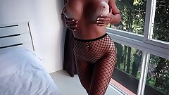 Fishnet Tights Chick Made Me Cum So Fast