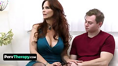 Horny Teen Pokes His Big Hooters Stepmom And The Hot Milf Physician