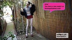 Skinny teen slut Aria Haze gets pounded again by Hookup Hotshot