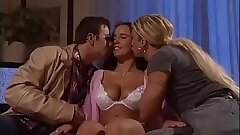 Incredible Threeway for a Teen Girl with big tits