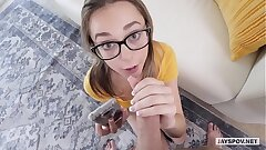 JAY'S POV - Tiny Teen Step Sister Aften Opal Uses Step Bro's Cock