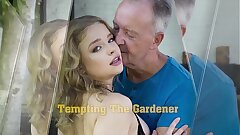 Teen oral job and hot deep pussy fucking with grumpy grandpa