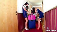 Crazy Hot Spanish Stewardess Sex with Lorena & Alexa Tomas