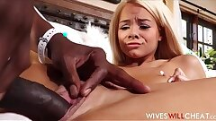 Hot Blonde Tiny Nubile Cheating Wifey Elsa Jean Gets Honeypot Spread By Black Fellow With Huge Cock