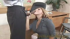 sexy blonde nubile fucked in insurance office with big black pipe