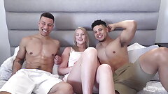 2 Sexy Mingled Boys With Big Cocks Fellate Each Other Off