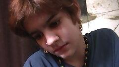 Teenage Nympho Gives Jumpy Nerd A CFNM Handjob